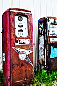 Gas Pump Red