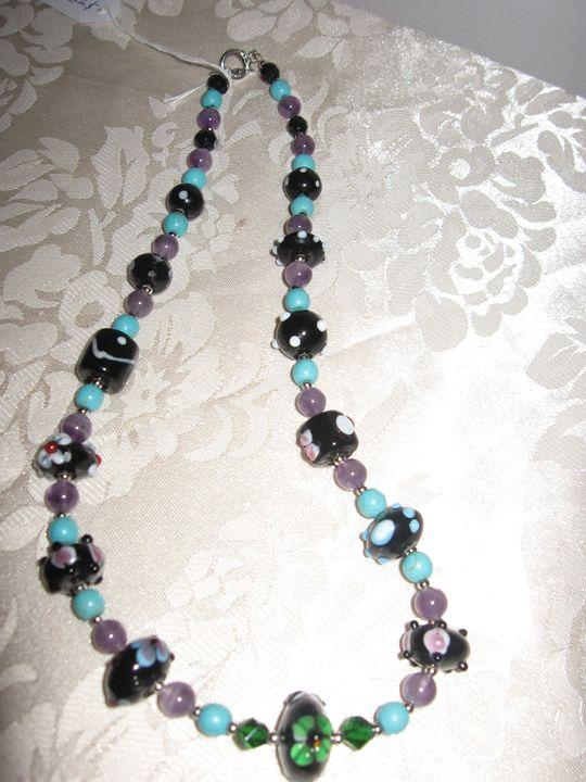 Handmade Lampwork Glass Necklace - Bumblebeads Original Handmade Jewellery