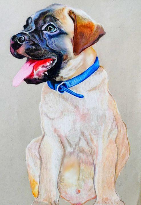 Dog portrait -Little DUKE - Shruti's Hobby Corner