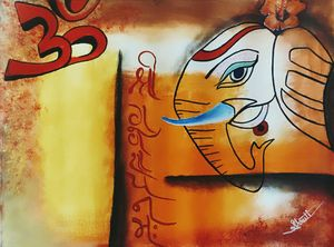 Abstract Lord Ganesha Art