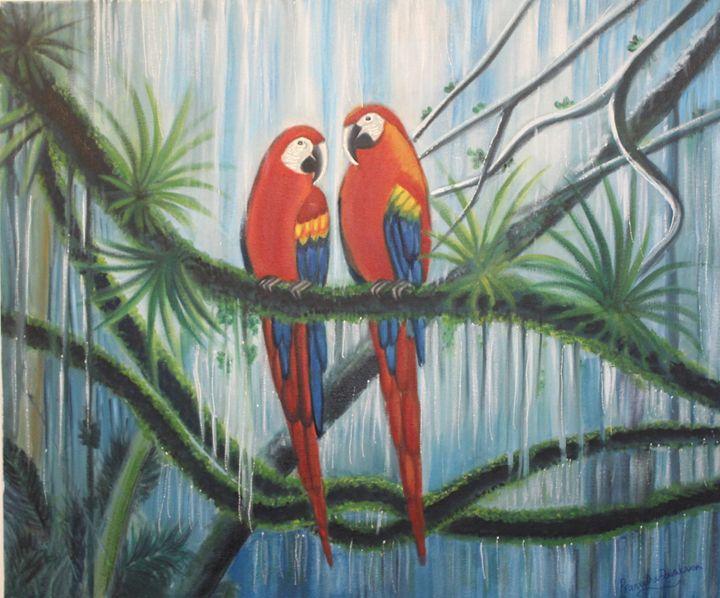 parrots couple - LIONS CLUB OF CALICUT EAST