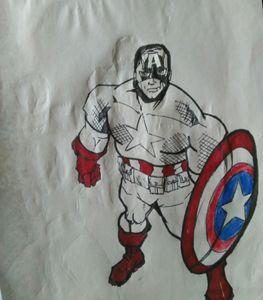 Cap ten minute sharpie sketch