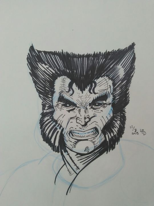 Wolverine after Rob Liefeld fan art - I love to draw Superheroes