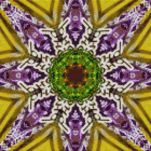 Cross Stitch Mandala Art - Dina vs. Mitch Art