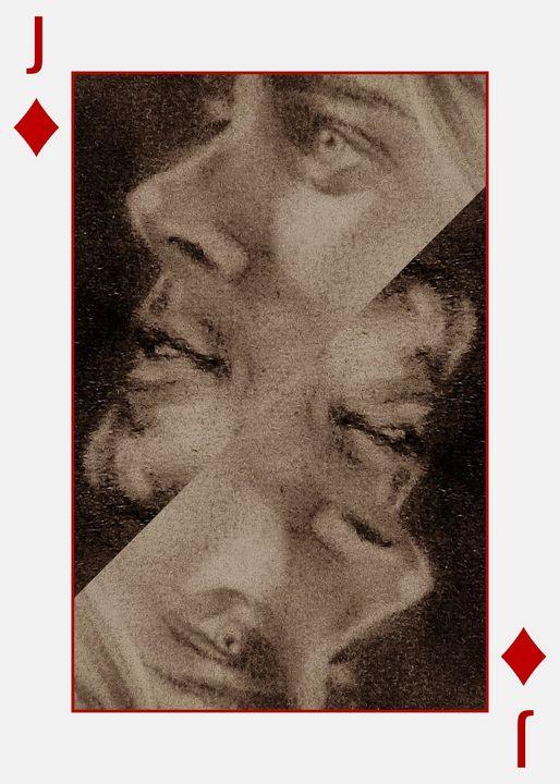 playing card kurt - luxury portraits by lenieART