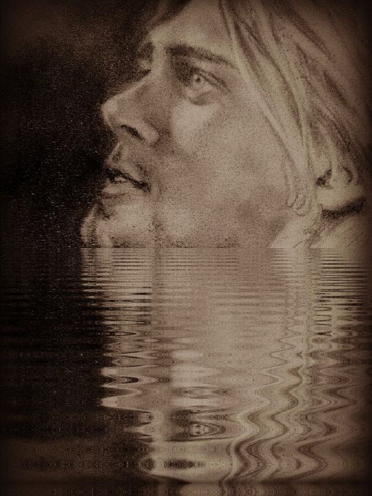 kurt in the water - luxury portraits by lenieART