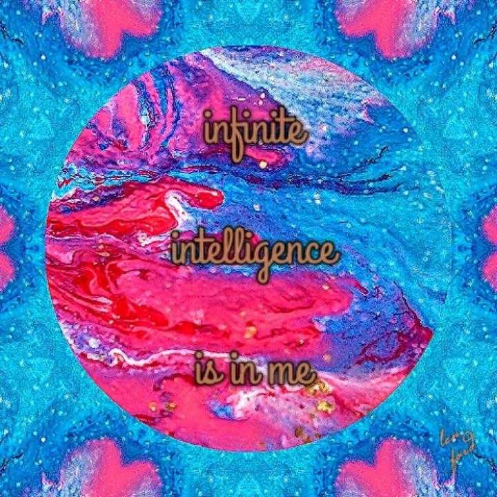 infinite intelligence is in me - luxury portraits by lenieART