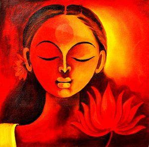 Spiritual Meditation Lady