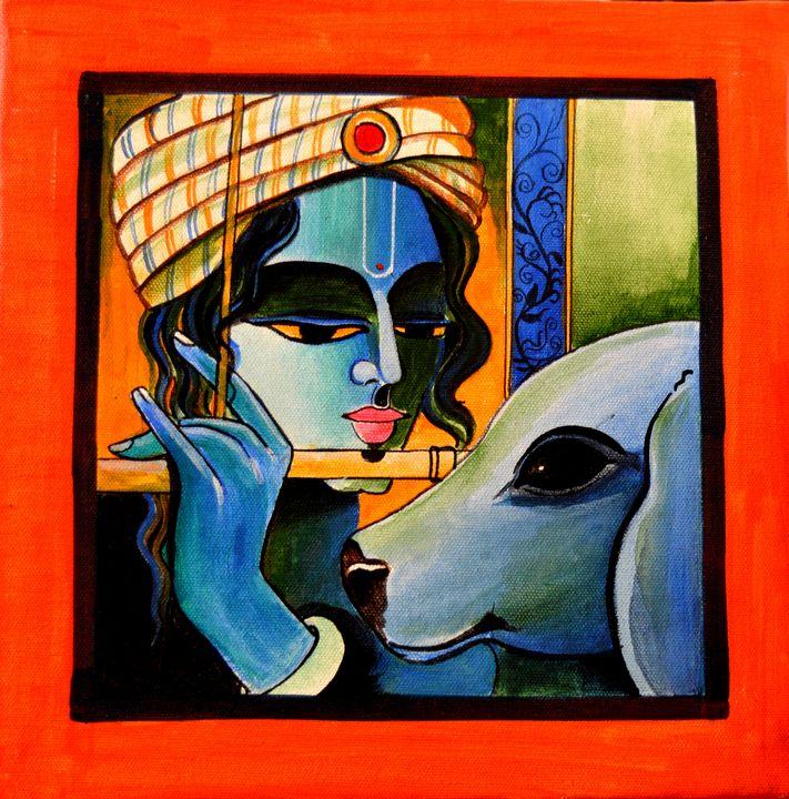 krishna - Artist Anuradha  Sharma