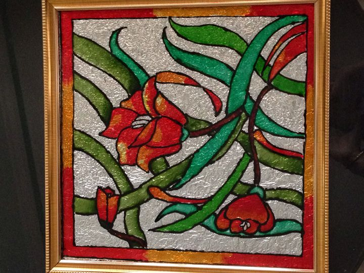 Reversible glass painting - Pavithra