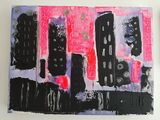 A bright abstract cityscape