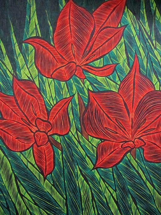 Tulipa Praestans - JBywaters Art