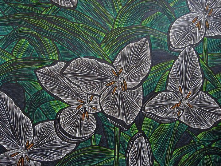 Volcano Flower - JBywaters Art