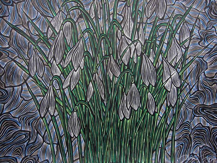 Garden Snowdrop - JBywaters Art