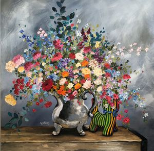 The cat and the vase.