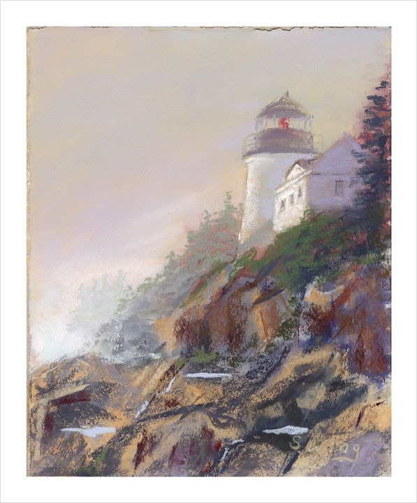 Bass Harbor Light - Pastel Landscapes