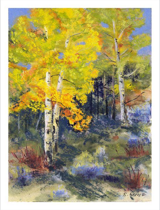 Morning Gold - Pastel Landscapes