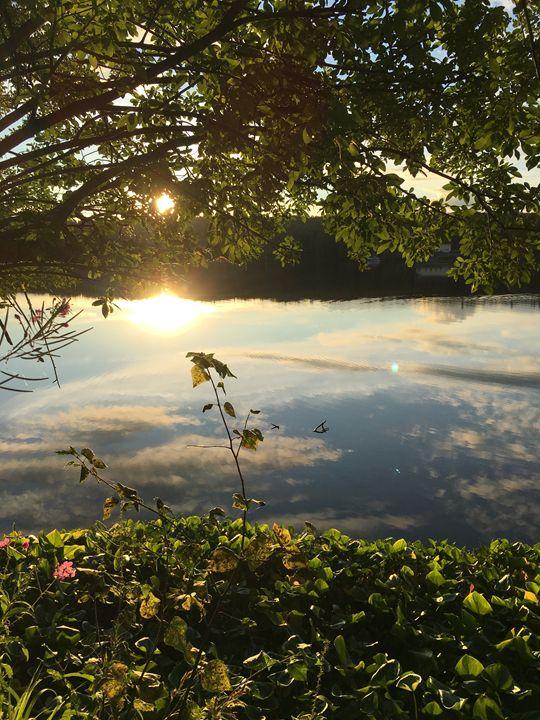 The Lake at Sunset - Elizabeth Clark