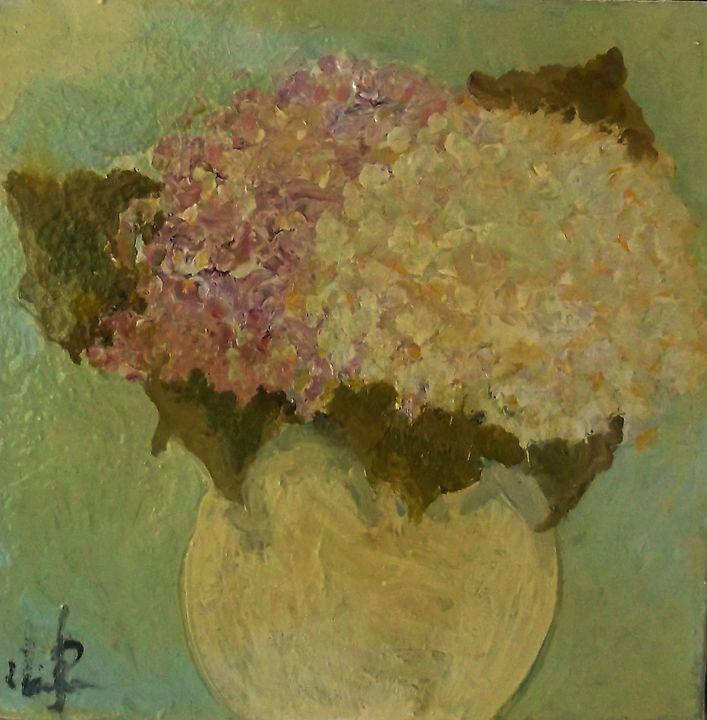 Hydrangea in vase - Mindy Reese