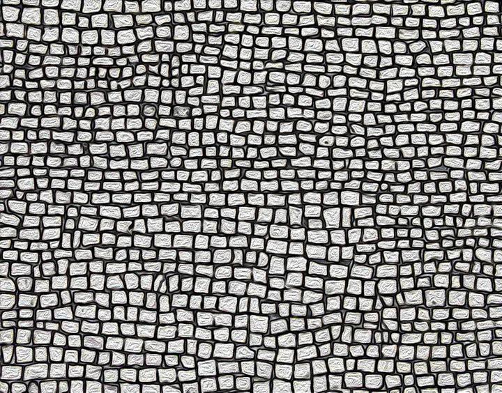 Portuguese mosaic paving - RB Paintings
