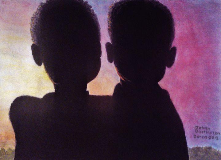 Sudanese Siblings - John East Gallery