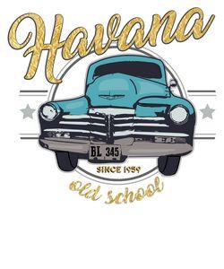 Havana Cuban Car Vintage Style
