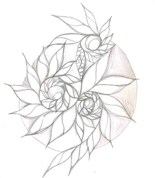 Flower Spiral - Random Doodle Art