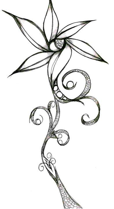 Flower - Random Doodle Art