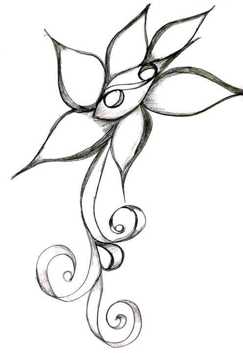 Flower 5 - Random Doodle Art
