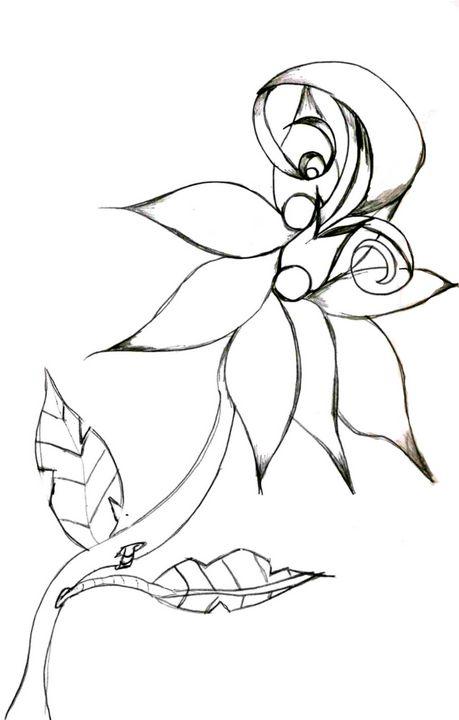 Flower 6 - Random Doodle Art