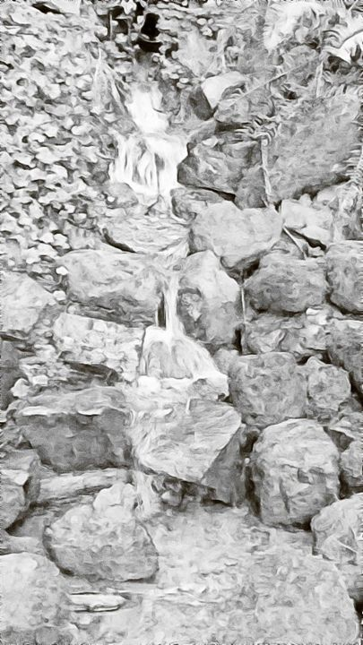 Grey Scaled Water Fall - EPitts Art Photography