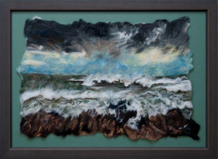 Stormy sea - AllyHallArt