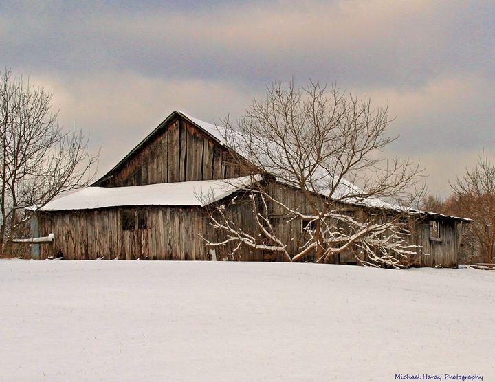 Winter Barn - Michael Hardy Photography