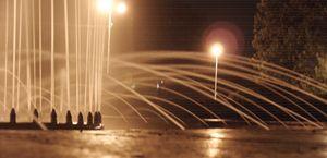 artesian-well in the night
