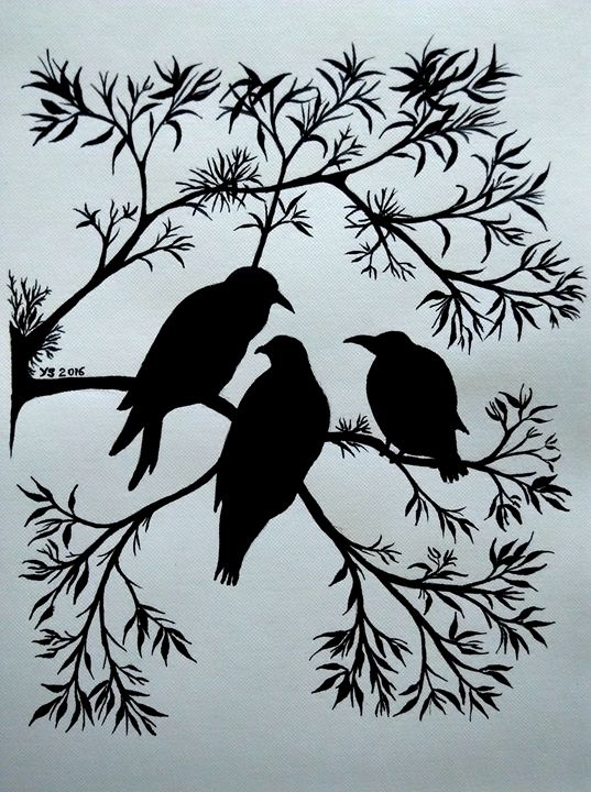 THREE BIRDS SILHOUETTE - YS Gallery