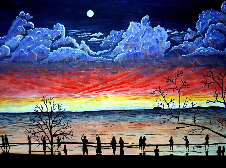 MOONRISE AT SUNSET - YS Gallery