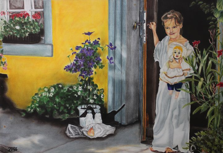 Little Girl with Doll - Relative, Creativ