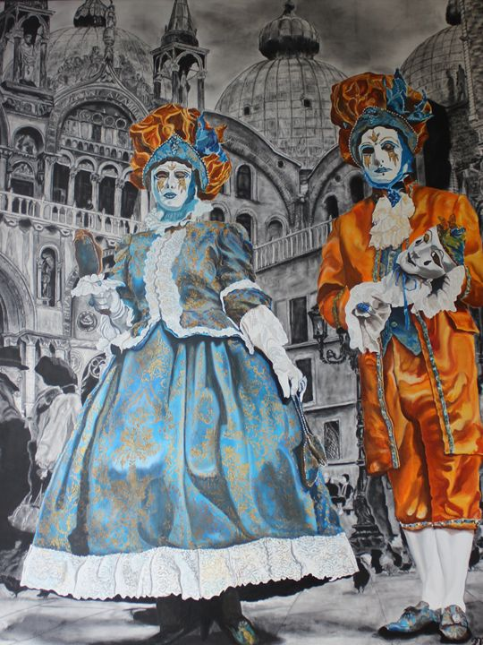 Venice Carnival, The Couple - Relative, Creativ