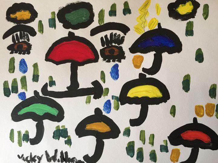 Raining Umbrellas - Dare to be different
