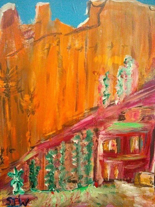 House near small mountain - Stephen John whelan