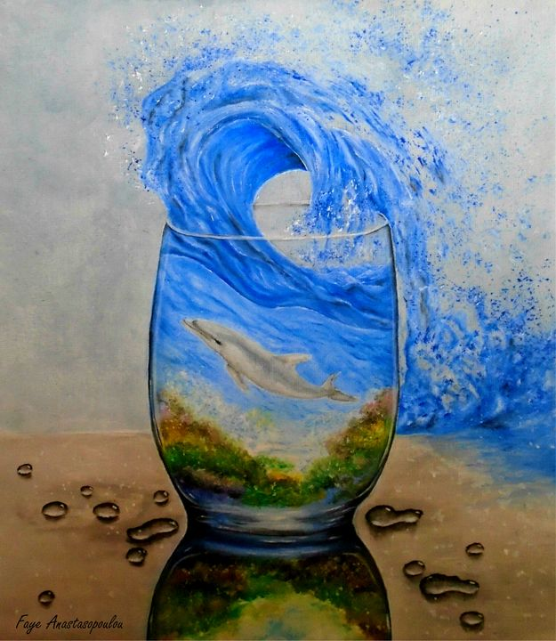 A Glass Of Ocean - Faye Anastasopoulou
