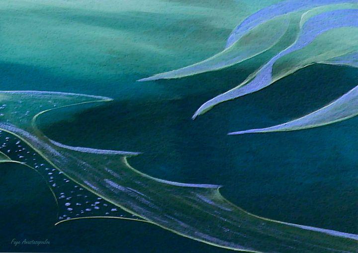 Teal Abstraction - Faye Anastasopoulou