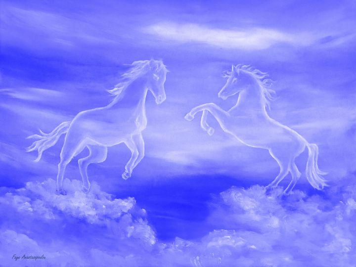 Horse Spirit Clouds - Faye Anastasopoulou