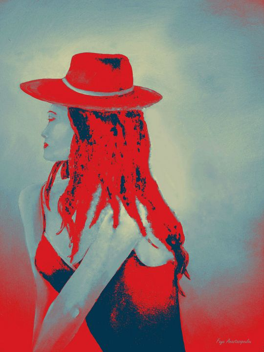 Woman In Red - Faye Anastasopoulou