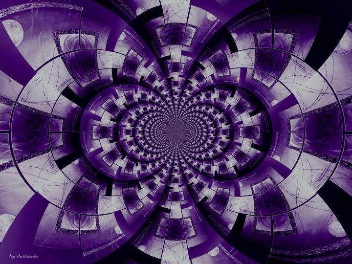 Graphic Ornamental Purple - Faye Anastasopoulou