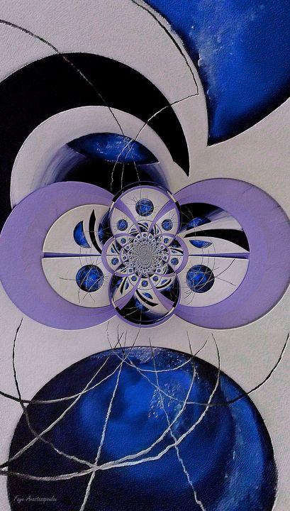 Cosmic Kaleidoscope Sapphire - Faye Anastasopoulou
