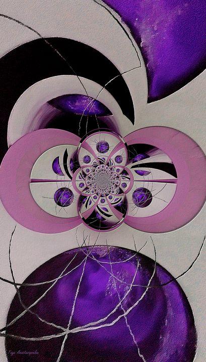 Cosmic Kaleidoscope Amethyst - Faye Anastasopoulou