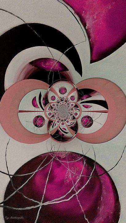 Cosmic Kaleidoscope Fuchsia - Faye Anastasopoulou