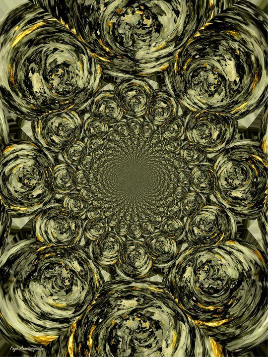Psychedelic Vortex Gold - Faye Anastasopoulou