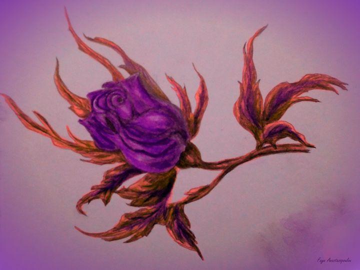 Decorative Wild Rose - Faye Anastasopoulou
